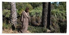 Jesus- Walk With Me Beach Towel