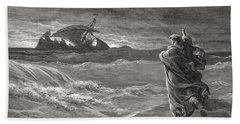 Jesus Walking On The Sea John 6 19 21 Beach Towel