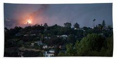 Jesusita Wildfire Burn In The Distance Beach Towel
