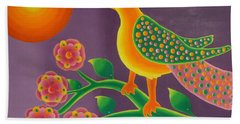 Jewel Bird Beach Towel