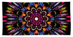 Jewelled Kaleidoscope 1 Beach Towel