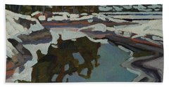 Jim Day Reflections Beach Towel by Phil Chadwick