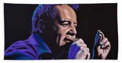 Jim Kerr Of The Simple Minds Painting Beach Towel