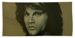 Jim Morrison Painting Beach Towel