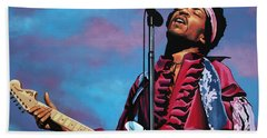 Jimi Hendrix 2 Beach Towel