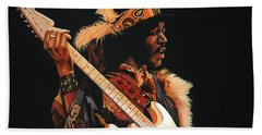 Jimi Hendrix 3 Beach Towel