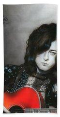 ' Jimmy Page ' Beach Sheet by Christian Chapman Art
