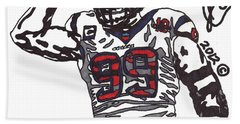 Jj Watt 1 Beach Sheet by Jeremiah Colley