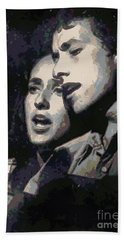 Joan Baez And Bob Dylan Beach Towel