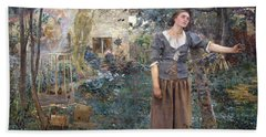 Joan Of Arc Beach Towel by Jules Bastien-Lepage