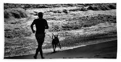 Joggin Wit Dad Beach Towel by Robert McCubbin