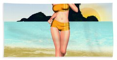 Jogging Miriam Beach Towel by Renate Janssen