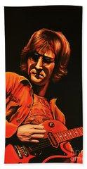 John Lennon Painting Beach Towel