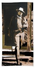 John Wayne Exciting The Sheriff's Office Rio Bravo Set Old Tucson Arizona 1959-2013 Beach Sheet by David Lee Guss