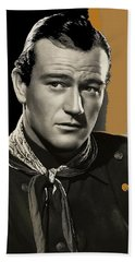 John Wayne  Publicity Photo In Costume Stagecoach 1939-2009 Beach Sheet by David Lee Guss
