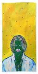 Johnny And Many Flies Beach Towel by Fabrizio Cassetta