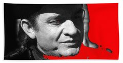 Beach Towel featuring the photograph Johnny Cash Music Homage Ring Of Fire Old Tucson Arizona 1971 by David Lee Guss