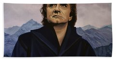 Johnny Cash Painting Beach Towel