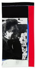 Beach Towel featuring the photograph Johnny Cash  Smiling Collage 1971-2008 by David Lee Guss