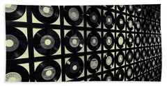 Johnny Cash Vinyl Records Beach Towel by Dan Sproul