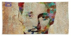 Johnny Depp Watercolor Splashes Beach Towel