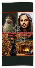 Johnny Depp Xmas Greeting Beach Sheet