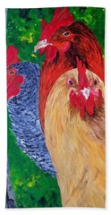 John's Chickens Beach Towel