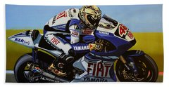 Jorge Lorenzo Beach Towel by Paul Meijering