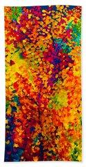 Joseph's Coat Trees Beach Sheet by Eloise Schneider