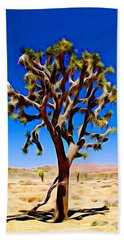 Joshua Tree Dark Beach Towel
