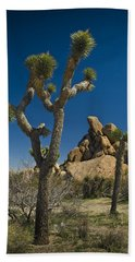 California Joshua Trees In Joshua Tree National Park By The Mojave Desert Beach Towel