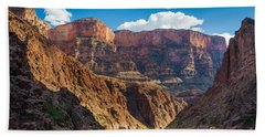 Journey Through The Grand Canyon Beach Towel by Inge Johnsson