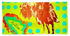 Journey To Aztlan Beach Towel
