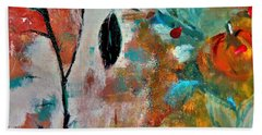 Beach Towel featuring the painting Joy by Lisa Kaiser