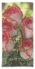 Joyful Gratitude Beach Towel