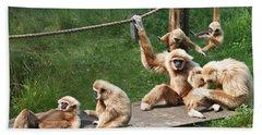 Joyful Monkey Family Beach Sheet