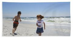 Joyful Play Of Children Beach Sheet by Charles Beeler