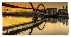 Jubia Bridge Naron Galicia Spain Beach Towel