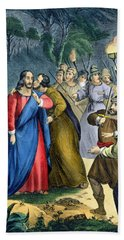 Judas Betrays His Master, From A Bible Beach Towel