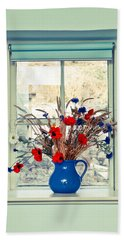 Jug Of Flowers Beach Sheet