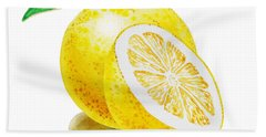 Juicy Grapefruit Beach Towel by Irina Sztukowski