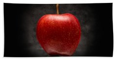 Aaron Berg Photography Beach Towel featuring the photograph Juicy Red Apple by Aaron Berg