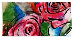 Juicy Red Roses Beach Towel