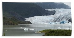 Beach Towel featuring the photograph July At The Glacier by Victoria Harrington