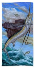 Jumping Sailfish Beach Towel