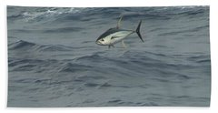 Jumping Yellowfin Tuna Beach Towel