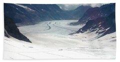 Jungfrau Glacier Beach Towel