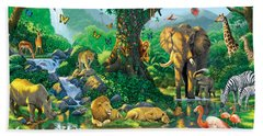 Jungle Harmony Beach Towel by Chris Heitt