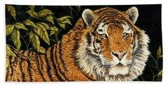 Jungle Monarch Beach Towel by Rick Bainbridge