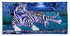 Jungle Tiger Beach Sheet by Glenn Holbrook